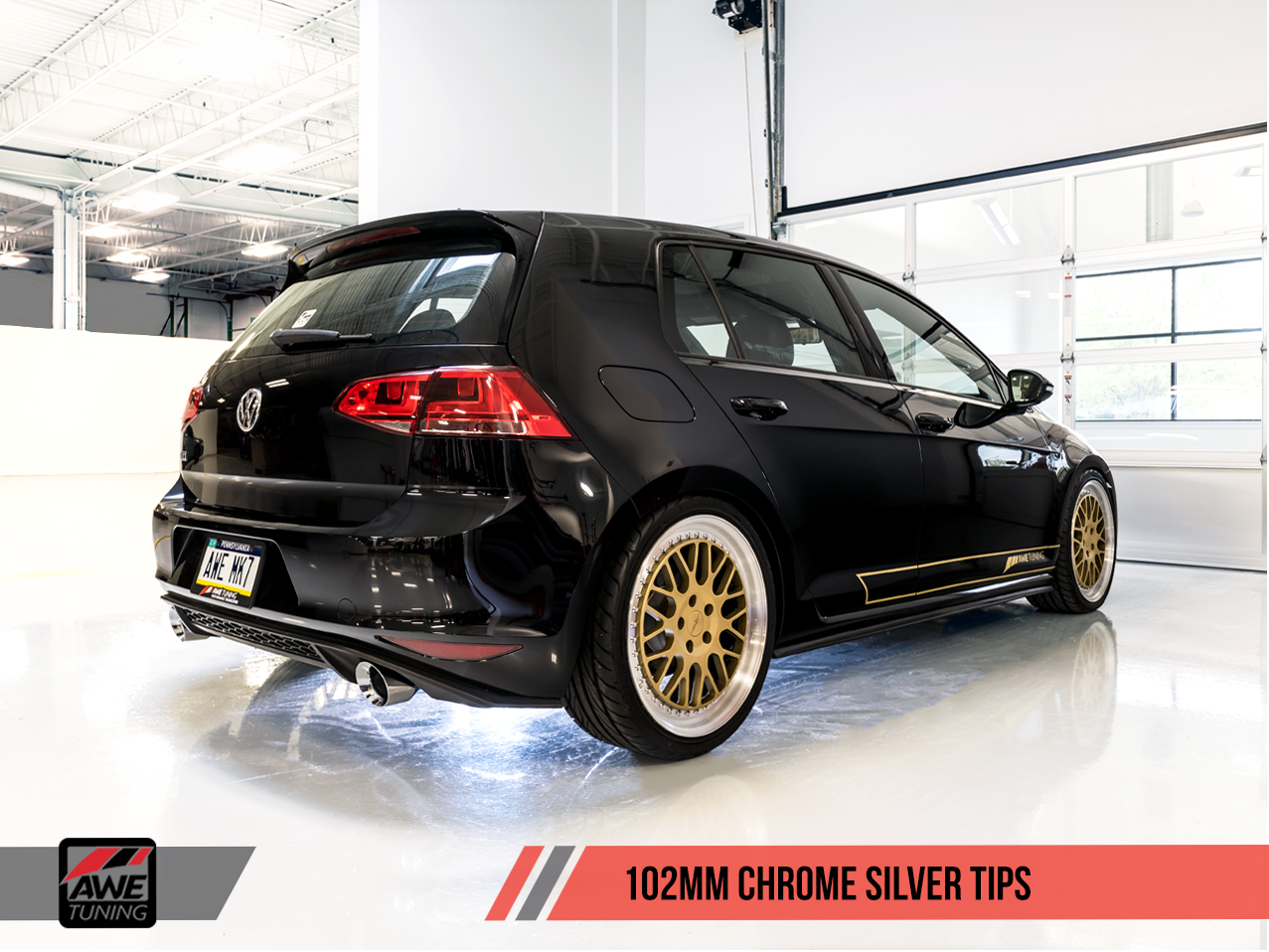 Axle Back Exhaust >> AWE Tuning: MK7 GTI Touring Edition Exhaust Chrome - Deep South Tuning