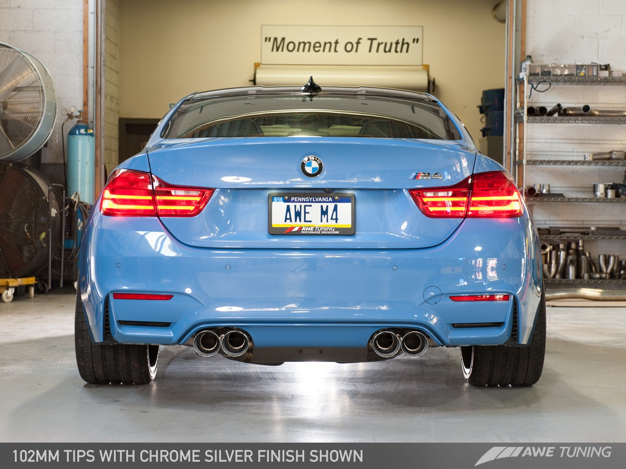 Awe Tuning M4 Non Resonated Switchpath Exhaust 102mm